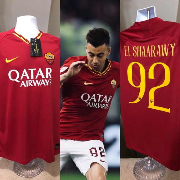 uk availability 49abe f0e8a 🔥 El Shaarawy #92 AS Roma NEW 2020 Soccer Jersey NWT